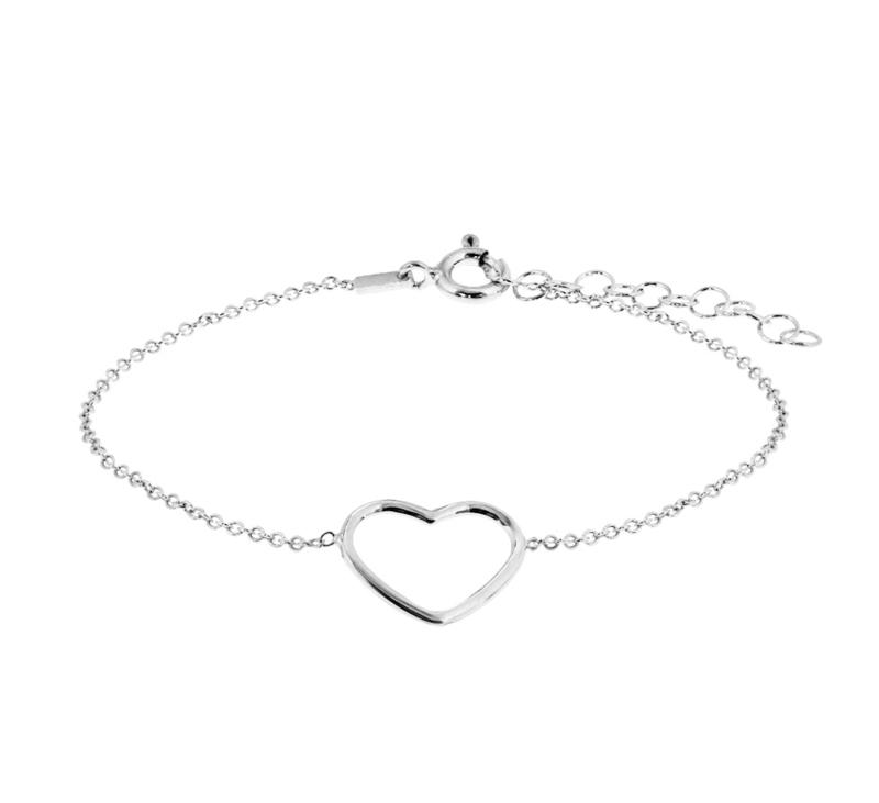 Zilveren armbandje met hart