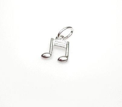 zilveren muzieknoot