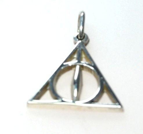Harry Potter Deathly Hallows hanger zilver