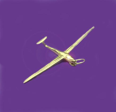 gouden zweefvliegtuig