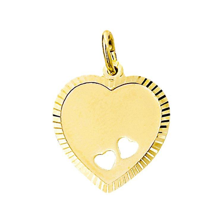 Graveerplaatje hartje met kleine hartjes