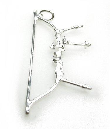 zilveren handboog hanger