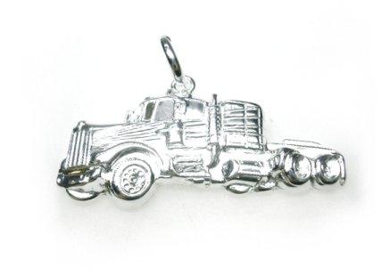 Echt zilveren truck