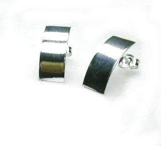 Zilveren oorbellen basic
