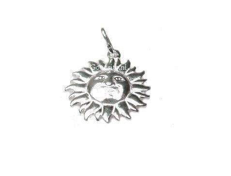 zilveren zon hangertje