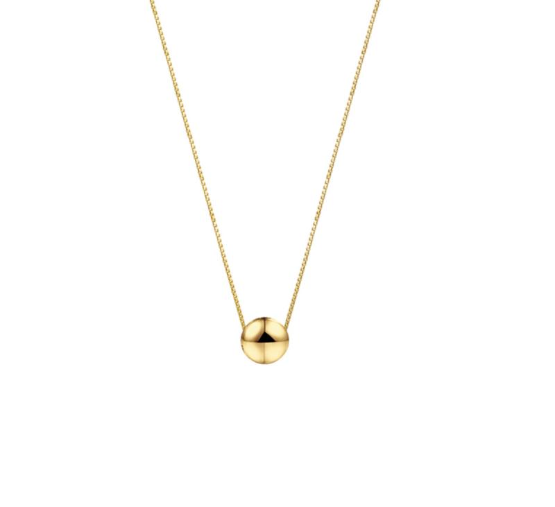 gouden collier met bol