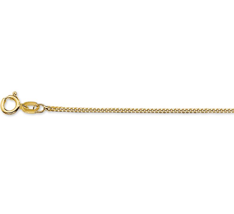 Gouden Gourmette ketting 45 cm. fijn
