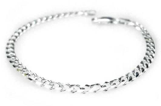 smalle zilveren gourmet armband