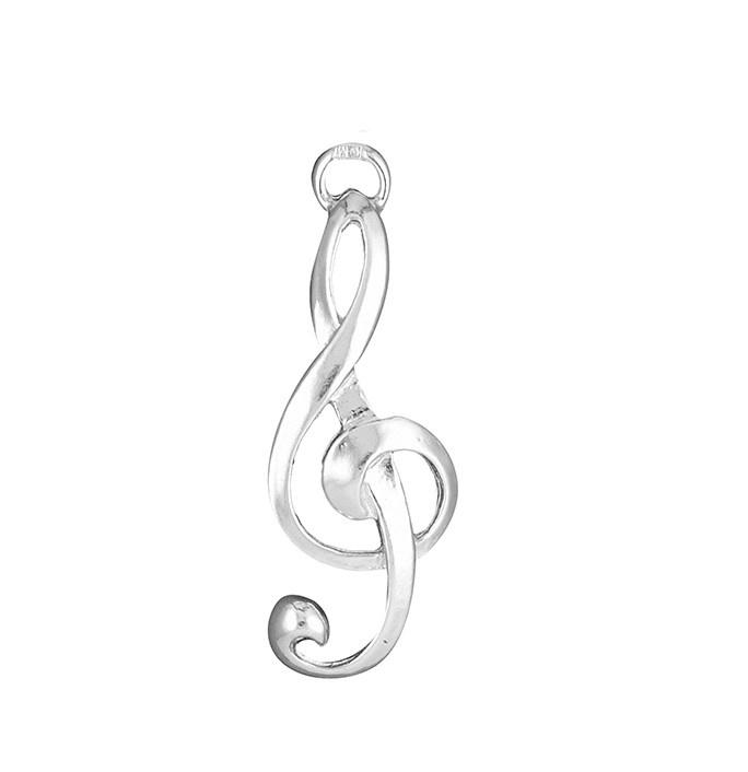 Zilveren muzieksleutel