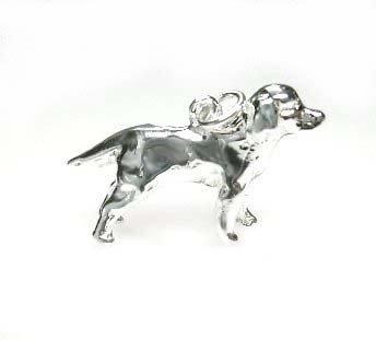 Zilveren Labrador hanger