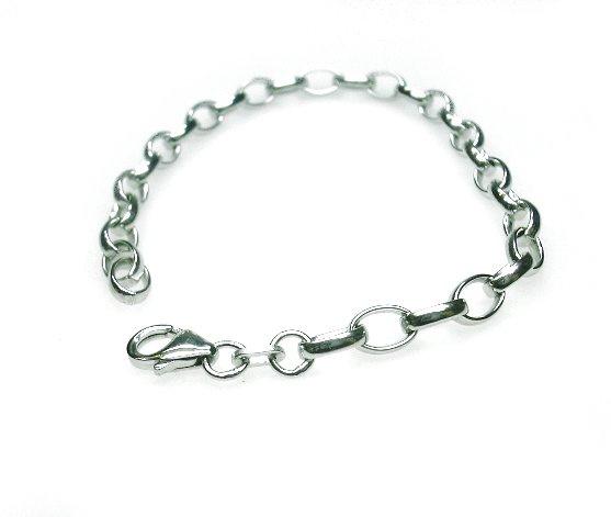 Zilveren charm armband