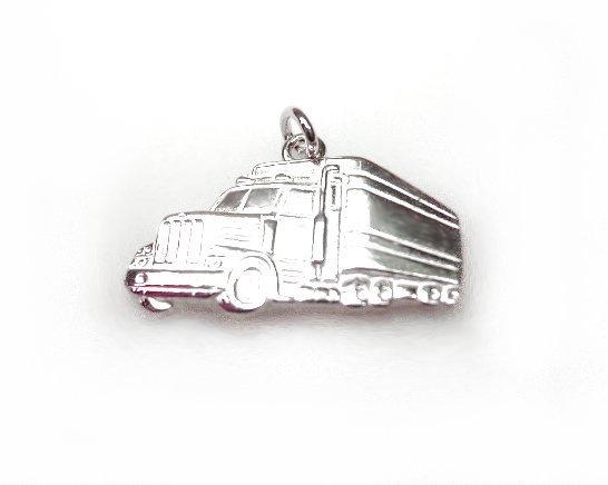 Echt zilveren scania truck