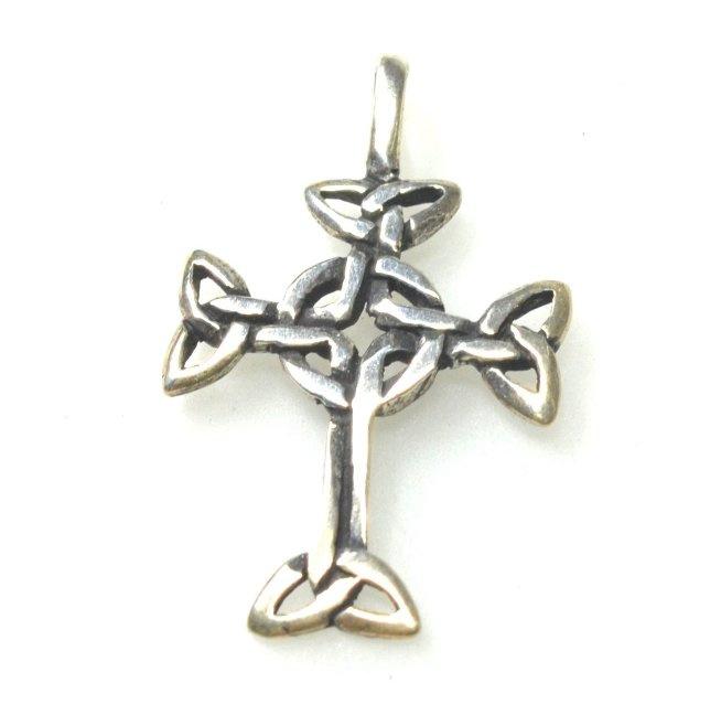 Zilveren keltisch kruis