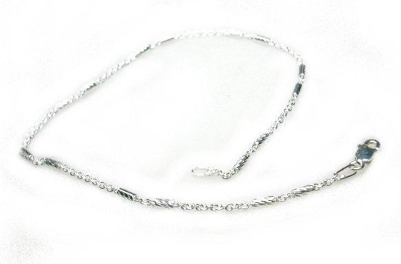 Zilveren enkelbandje Fantasieschakel 24 cm.