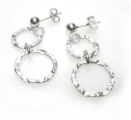 oorstekers zilver ringen