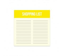 Shopping list blokje