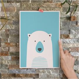 Poster ijsbeer