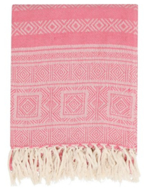 Light graphic throw Roze