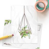 SD ansichtkaart planten hanger