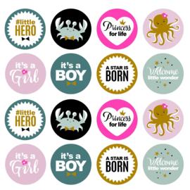 Newborn stickers per 15 stuks