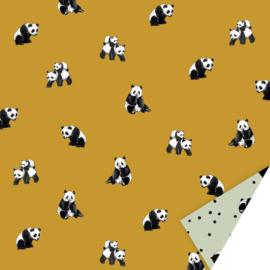 Inpakpapier panda oker