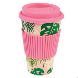 Koffie to go mok bamboe tropical palm