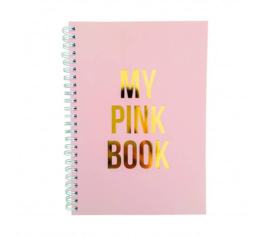 A5 notitieboek my pink book