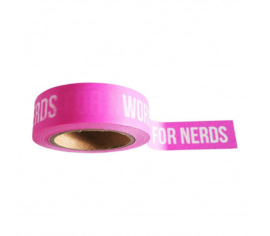 Words are for nerds washitape