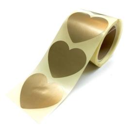 Gouden hartjes stickers per 15 stuks