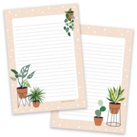 Notitieblok plantjes