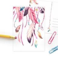 SD ansichtkaart droomvanger roze