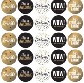 Let's Party cadeau stickers per 15 stuks