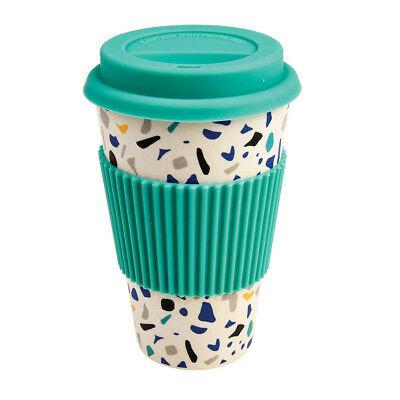 Koffie to go mok streepjes bamboe