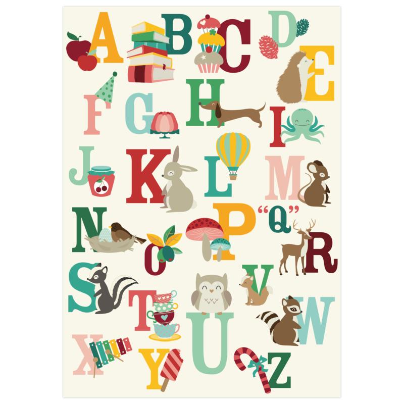 ABC vrolijk A2 poster