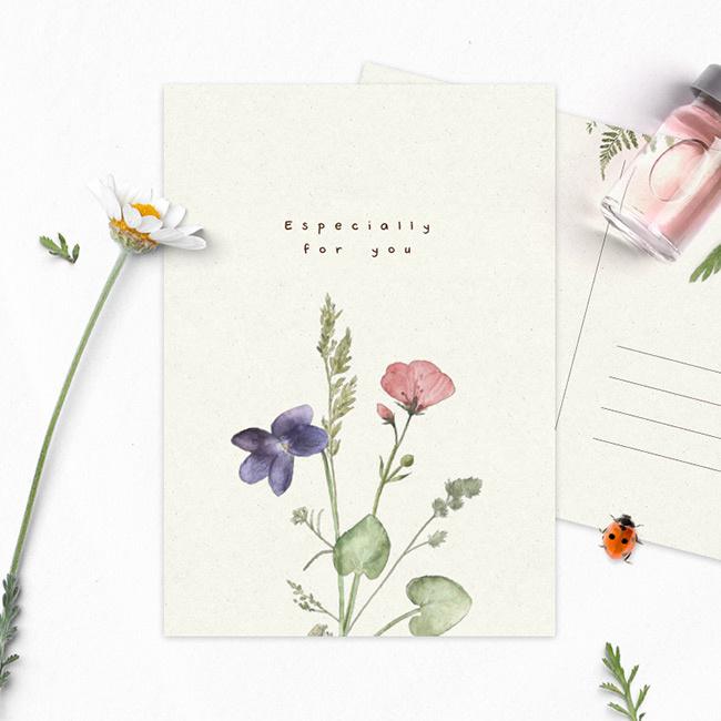 SD ansichtkaart veldbloemen for you