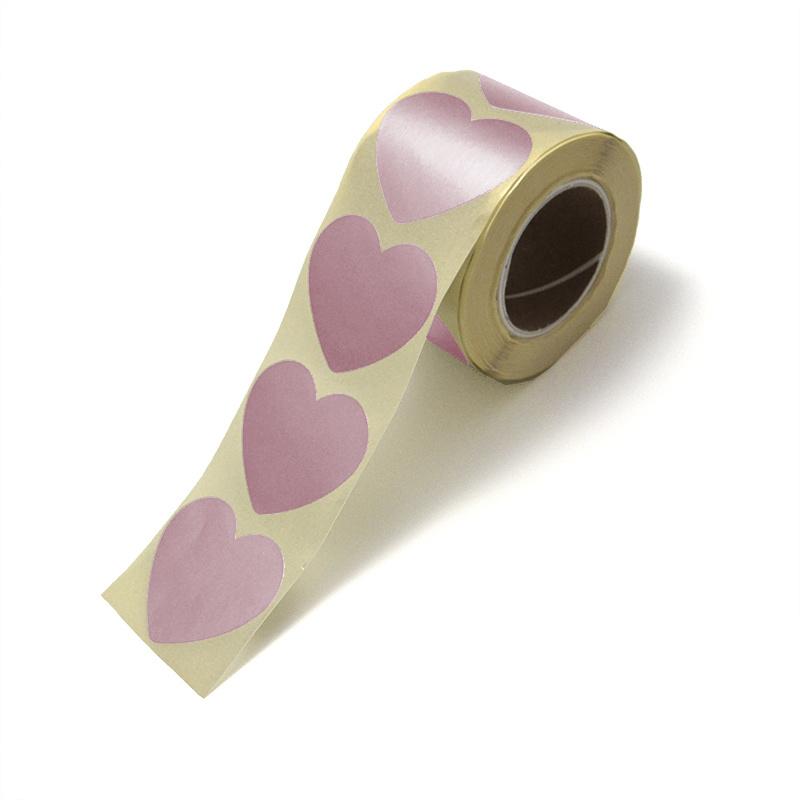 Goud rose hartjes stickers per 15 stuks