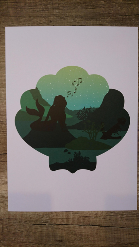 A4 poster kleine zeemeermin