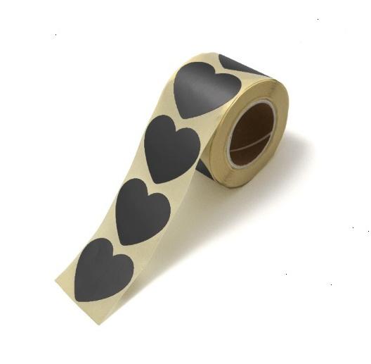 Zwarte hartjes stickers per 15 stuks