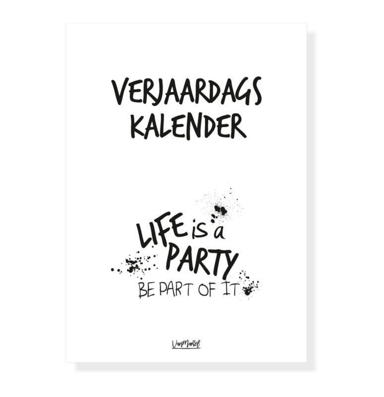 verjaardagskalender life is a party