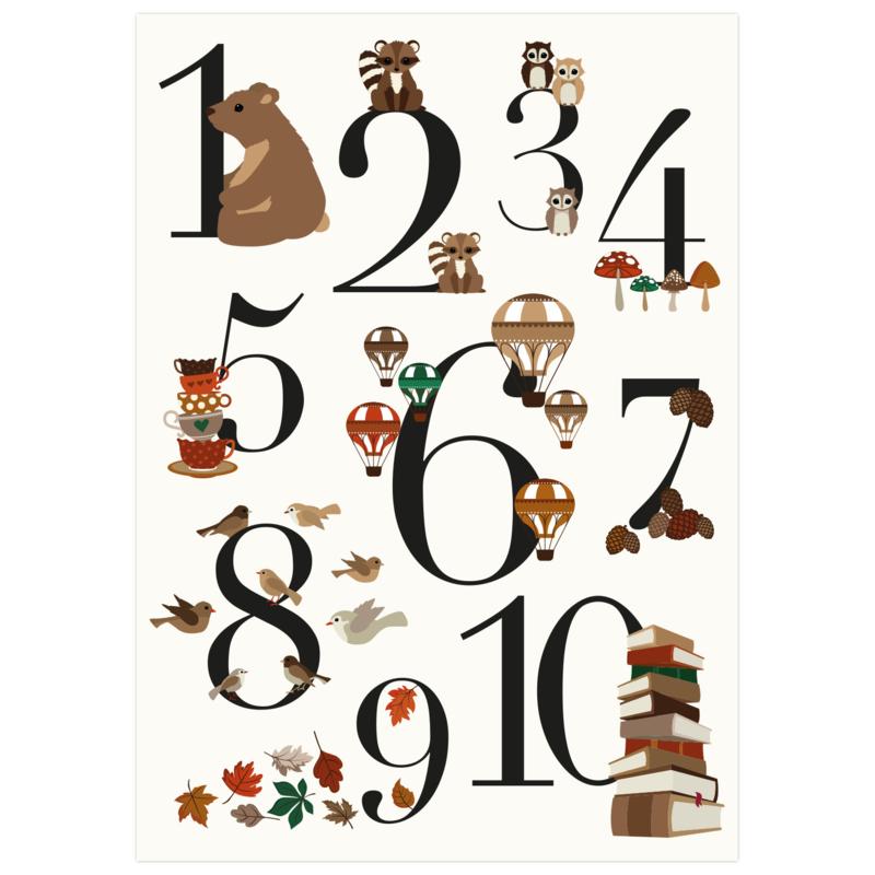 Cijfer poster vintage A2