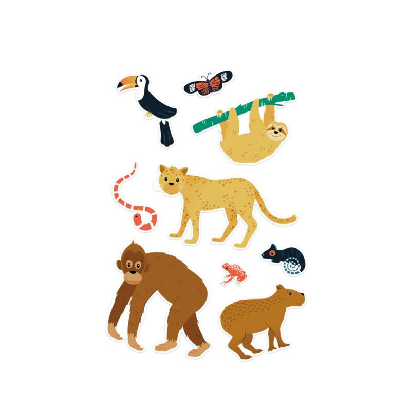 Jungle sticker set