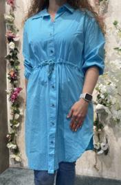 Cotton Long tuniek/dress Blauw