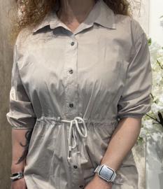 Cotton Long tuniek/dress Beige
