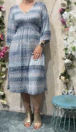Mid Dress Blue & White