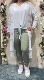 Green/Pink en White Long Vest