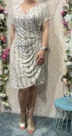 Lace Dress Beige Snake (plussize)