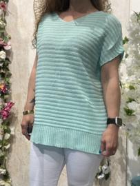 Dyvie Sweater Mint Ribbel