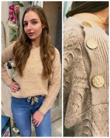 Sweater met knoop detail