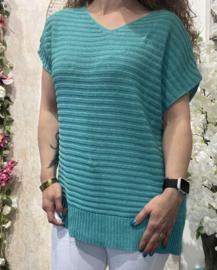 Dyvie Sweater Turquoise Ribbel
