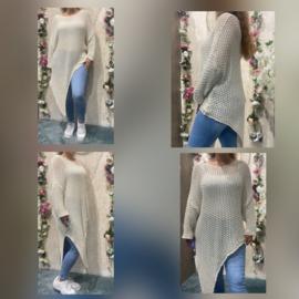 Cotton sweater plussize beige